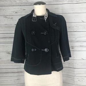 DKNY Jeans Fitted 3/4 Sleeve Jacket
